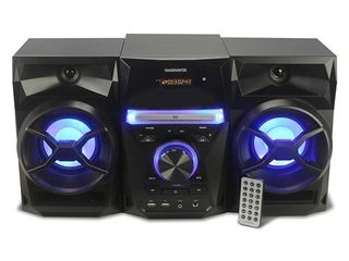 Craig   Magnavox  3 Pieces CD Shelf System with Digital Pll FM Stereo  Radio Blue Color lights  and Bluetooth Wireless Technology