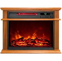 lifesmart life Pro Easy large Room Infrared Fireplace Includes Deluxe Mantle In Burnished Oak   Remote