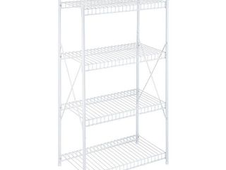 Honey Can Do 5 Shelf Steel Storage Shelving Unit  White