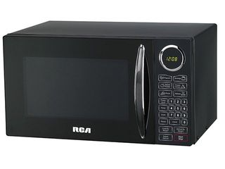 RCA 0 9 cu ft Microwave  Black