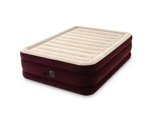 Intex 20  Queen Dura Beam Extra Raised Guest Airbed Mattress with Internal Pump