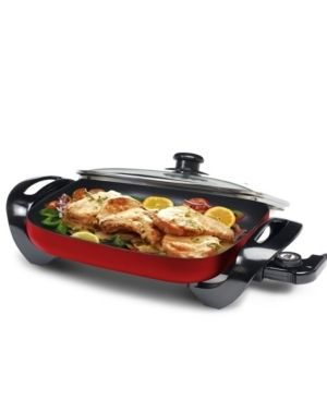 Elite   15  x 12  Electric Skillet   Red