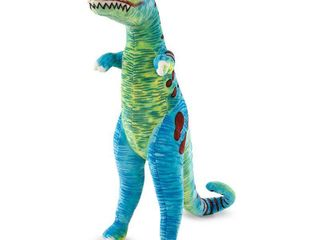 Melissa   Doug Jumbo T Rex Dinosaur   lifelike Stuffed Animal  over 4 feet tall