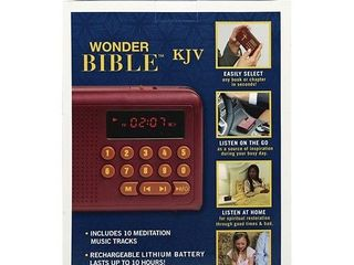 Wonder Bible Audio Player   King James Version  Old and New Testament Audio Book  As Seen on TV