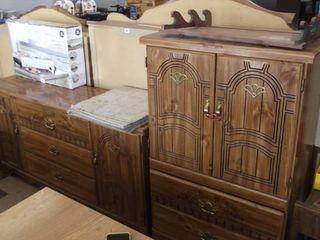 bedroom set   headboard   dresser and mirror   chest   night stand