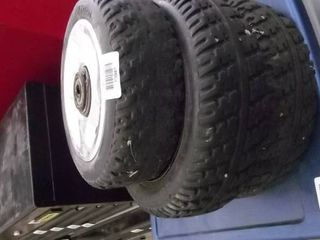 3 tires and wheels