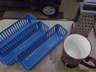baskets   cheese grater   coffee mug