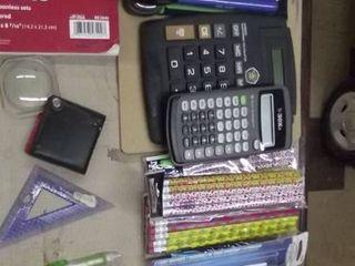 office items   phones   pencils   receipt book