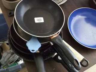 lot of frying pans   every size you need