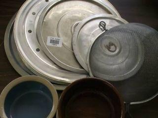 baking pans   lids   crocks