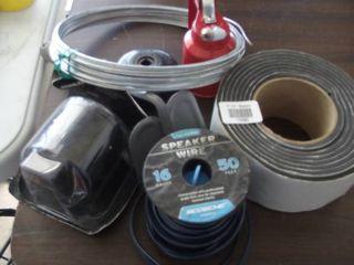 speaker wire   foam tape   filter socket