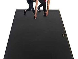 Gxmmat Extra large Exercise Mat 6 x8 x7mm  Thick Workout Mats for Home Gym Flooring  High Density Non Slip Durable Cardio Mat  Shoe Friendly  Great for Plyo  MMA  Jump Rope  Stretch  Fitness
