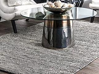 nulOOM Hand Woven Area Rug  5  x 8  Grey