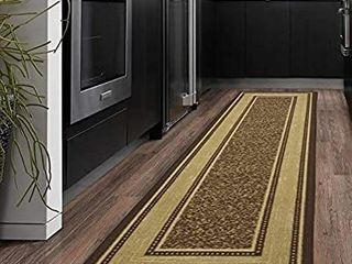Ottomanson Runner Rug  3 4  A 4 9  ft Chocolate Brown