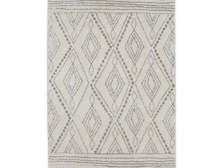 Mohawk Home Nomad Vado Cream Transitional Geometric Bohemian Woven Area Rug  4 x6  Beige Grey