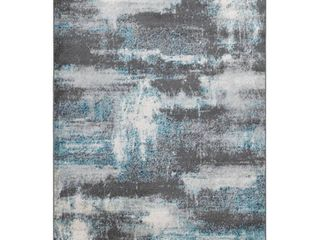 Ottomanson Rixos Collection Distressed Modern Abstract Design Area Rug