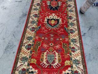 Genuine hand woven oriental rug m1867 32 7 10  A 3 2