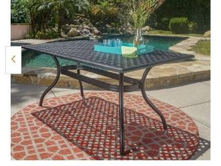 Noble house Bronze Rectangle Aluminum Outdoor Dining Table