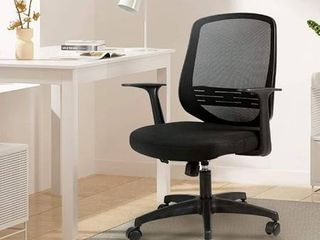 Hbada Home Desk Chair Mesh Office Chair with Arms and Adjustable Height  Black