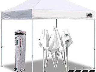 Eurmax 10 x10  Ez Pop Up Canopy Tent Commercial Instant Canopies with Heavy Duty Roller Bag Bonus 4 Canopy Sand Bags