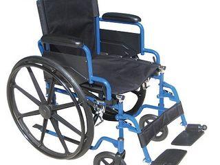 Transport WheelchairWheelchairs K1 Product Description  BlueStreak18 D l FlipBackArms SwgFt 1 cs
