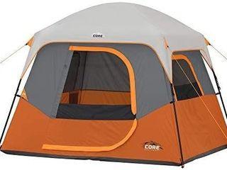 Core 4 6 6 Person Straight Wall Cabin Tents 4 Person