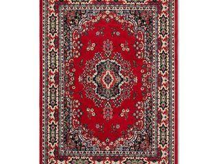 Home Dynamix Premium 7069 202 Polypropylene 1 Feet 9 Inch by 7 Feet 2 Inch Area Rug  Red