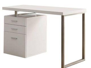 Writing Desk  Monarch Hollow Core left or Right Facing Desk   White