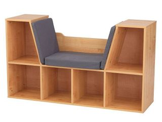 KidKraft Bookcase with Reading Nook   Natural