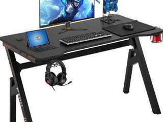Computer Desk Gaming Desk 47 2 inches Student PC Desk Writing Desk Ofiice Desk Extra large Modern Ergonomic Racing Style Table Workstation Carbon Fiber Cup Holder Headphone Hook