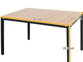 Need Computer Desk 47 inches Computer Table with BIFMA Certification Sturdy Office Meeting Training Desk Teak AC3BB 120