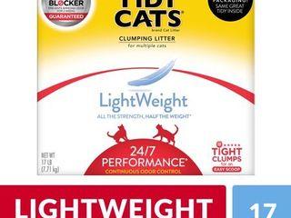 Purina Tidy Cats light Weight  low Dust  Clumping Cat litter  lightWeight 24 7 Performance Multi Cat litter   17 lb  Box