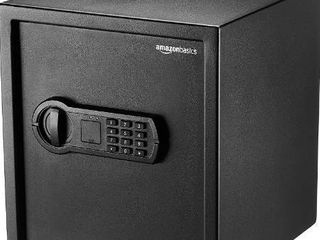 AmazonBasics Home Keypad Safe   1 2 Cubic Feet  13 x 13 x 14 2 Inches  Black   36SAM
