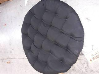 Blazing needles  l p oval shaped cushion black