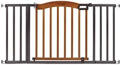Summer Decorative Wood  Metal Baby Gate