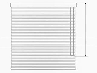 Shadesu Shortened and looped Cord large White Blinds