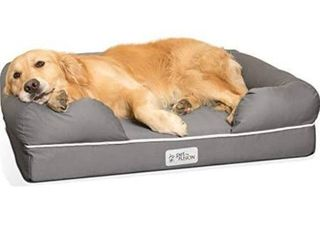 PetFusion Ultimate Dog Bed  Orthopedic Memory Foam  Multiple Sizes Colors  Medium Firmness Pillow  Waterproof liner  YKK Zippers  Breathable 35  Cotton Cover  Cert  Skin Contact Safe