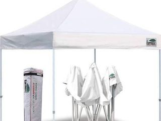 Eurmax 10 x10  Ez Pop Up Canopy Tent Commercial Instant Canopies with Heavy Duty Roller Bag Bonus 4 Canopy Sand Bags  White Two of the support beams are broke
