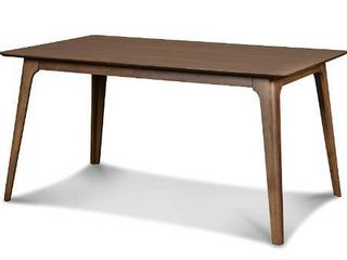 New Classic Furniture Mid Century Modern Oscar Dining Table  60 Inch  Walnut