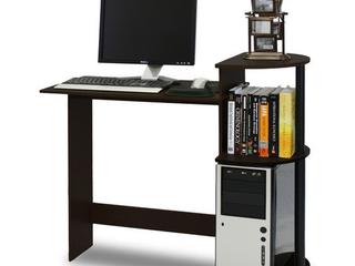 Furinno 11181EX BK  10015E  Compact Computer Desk  Espresso Black