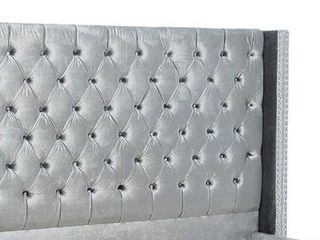 Meridian Furniture Aiden Collection Grey Headboard with Slats
