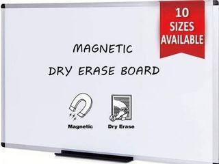 VIZ PRO Magnetic Dry Erase Board  72 X 48 Inches  Silver Aluminium Frame
