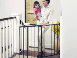 Toddleroo by North States 47 85  Wide Easy Swing   lock Baby Gate  Ideal for Wider Areas and stairways  Hardware Mount  Fits Openings 28 68    47 85  Wide  31  Tall  Matte Bronze
