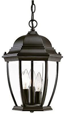 Acclaim 5036BK Wexford Collection 3 light Outdoor light Fixture Hanging lantern  Matte Black