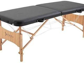 SierraComfort Basic Portable Massage Table  Black