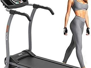 Hurtle Electric Folding Treadmill Exercise Machine   Smart Compact Digital Fitness Treadmill Workout Trainer w Bluetooth App Sync  Manual Incline Adjustment  for Walking Running  Gym HURTRD18
