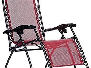 AmazonBasics Outdoor Zero Gravity lounge Folding Chair navy blue