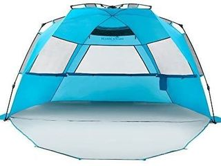 Pacific Breeze Easy Setup Beach Tent Deluxe Xl Xl With Extendable Floor APPEARS USED
