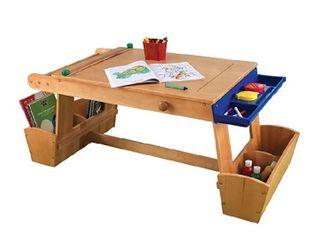 Kidkraft Art table with drying rack  storage
