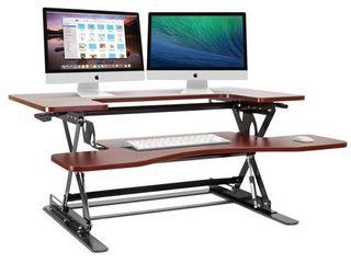 Halter ED 258 Preassembled Height Adjustable Desk Sit   Stand Desk Elevating Desktop